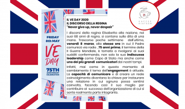 IL VE DAY 2020 - Il Discorso della Regina